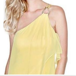 Marciano Yellow One shoulder dress.